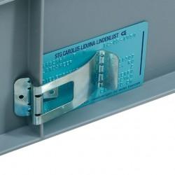 Self-adhesive label clamp...