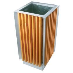 Corbeille carrée bois 65 L