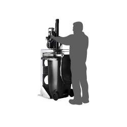 Presse pour conteneur juqu'à 370 L - Recycleoffice