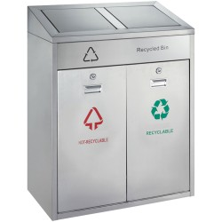 Indoor waste bin 2 x 21 L
