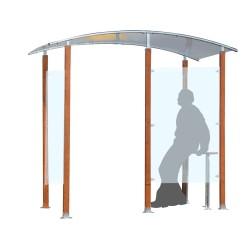 Wooden smoking shelter 4 m²...