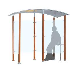 Wooden smoking shelter 6 m²...