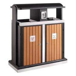 Wooden bin 2 x 50 L