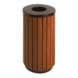 Corbeille ronde bois 40 L