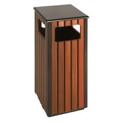 Corbeille carrée bois 36 L