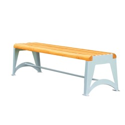 WOODEN BENCH without backrest