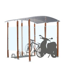 Abris cycles design bois