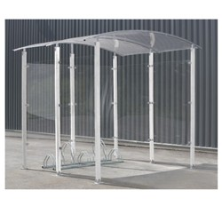 Designer cycle shelters metal