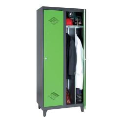 One-piece locker for dirty...