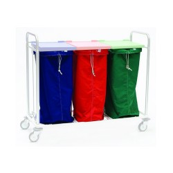 Laundry bag for bag trolley