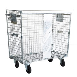 Wheeled wire mesh container...