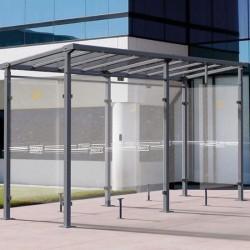 MILAN smoking shelter -...
