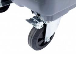 Wheel lock for drawbar
