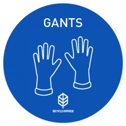 STICKERS GANTS (⌀ 100 mm) (x5)