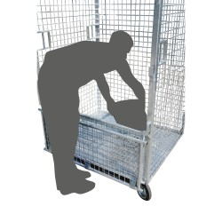 Wire mesh container 1800 L