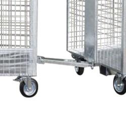 Drawbar for wheeled wire...