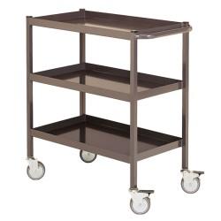 3-tray serving trolleys